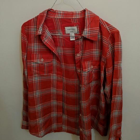 Forever 21 Tops - Like new--F21 plaid shirt